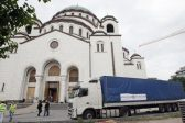 Massive mosaic for St. Sava's Temple arrives from Russia