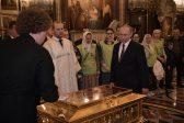 Putin venerates St Nicholas's relics in Cathedral of the Savior