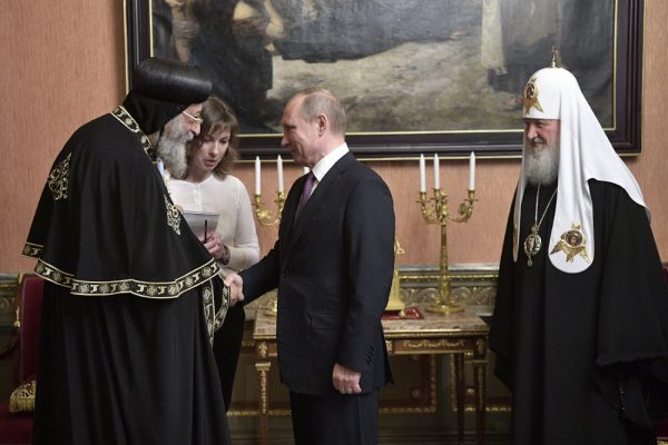 Putin meets with Coptic patriarch Tawadros II