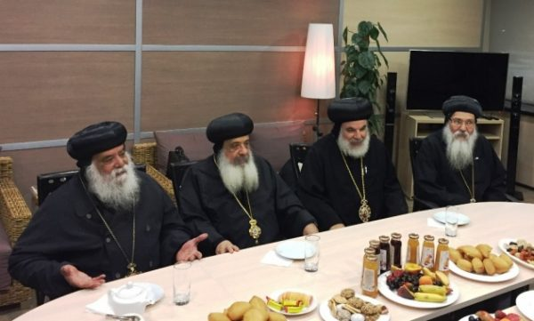 His Holiness Patriarch Kirill receives delegation of the Coptic Church