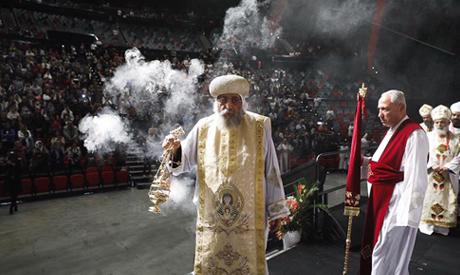 Egypt's Pope Tawadros II leads divine liturgy in Sydney, Australia