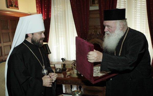 Metropolitan Hilarion of Volokolamsk meets with His Beatitude Archbishop Ieronymos of Athens and all Greece
