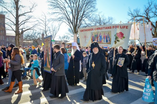 Strong Orthodox Christian presence at DC March for Life