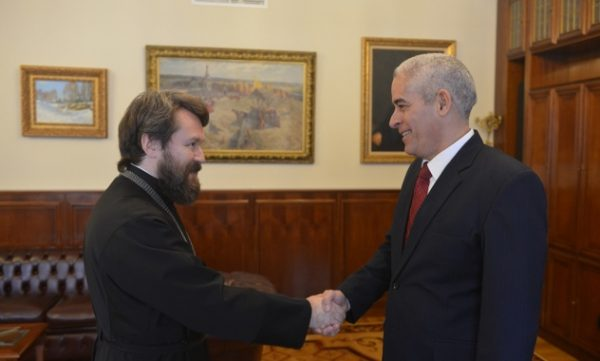 Metropolitan Hilarion Meets with Newly Appointed Ambassador of Cuba to Russia