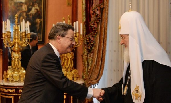 Patriarch Kirill Meets with Switzerland's Ambassador to Russia