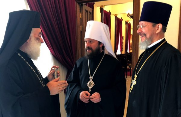 Metropolitan Hilarion Meets with His Beatitude Patriarch Theodoros of Alexandria