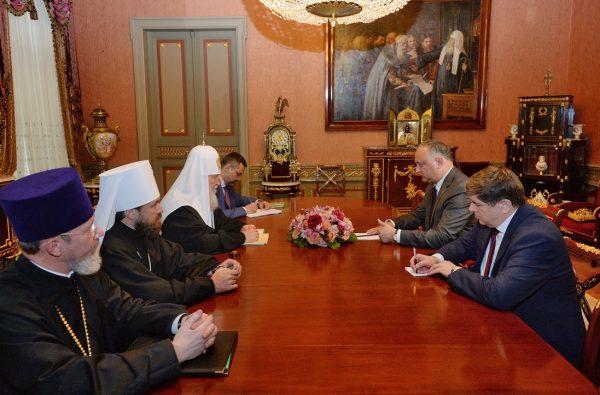 Patriarch Kirill Meets with Moldova President Igor Dodon