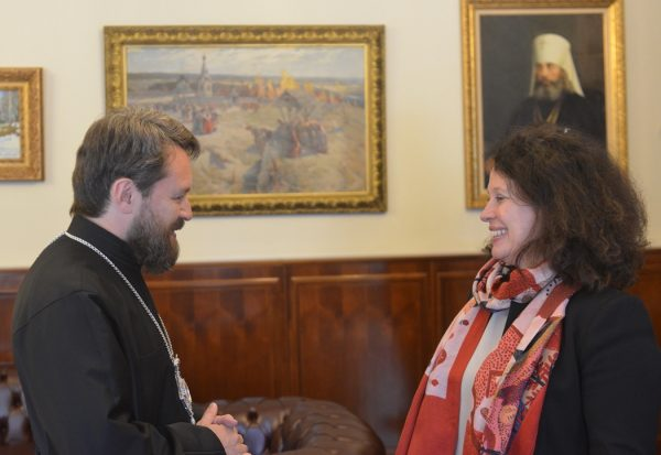 Metropolitan Hilarion of Volokolamsk Meets with French Ambassador to Russia