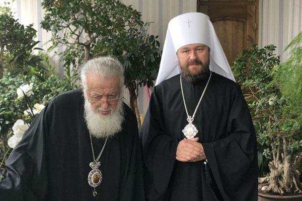 Metropolitan Hilarion of Volokolamsk Meets with the Primate of the Georgian Orthodox Church
