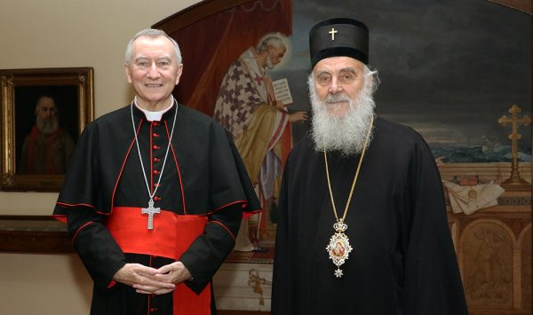 The Serbian Patriarch Received in Audience the State Secretary of the Vatican