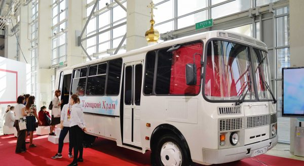 The Only Bus-Church in Russia Presented in Moscow