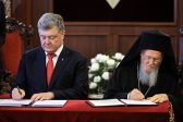 Poroshenko, Patriarch Bartholomew Sign Cooperation Agreement