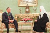His Holiness Patriarch Kirill Meets with President of Moldova Igor Dodon
