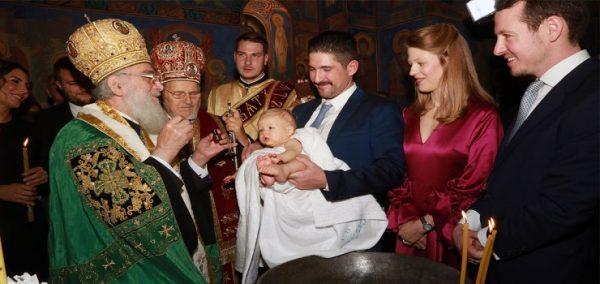 Prince Stefan Baptized by Patriarch Irinej