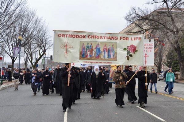 Metropolitan Tikhon Leads Faithful at Annual DC March for Life