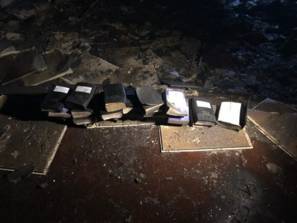 Firefighters Praise God After Not 1 Bible is Burned in Fire that Destroyed Church