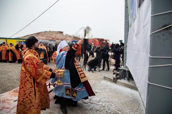 Tallest Memorial Cross in Russia, 160 ft. high, Consecrated in Krasnoyarsk