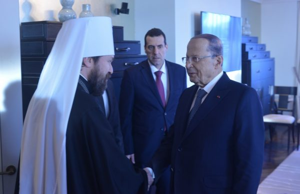 Metropolitan Hilarion Meets with President of Lebanon
