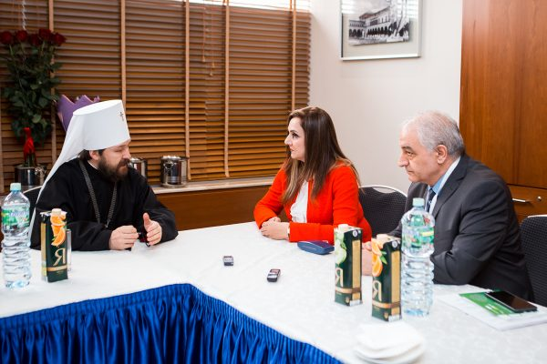 Metropolitan Hilarion Meets with a Representative of the Syrian Parliament