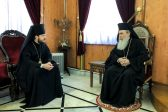 Bishop Victor of Baryshevka Meets with Patriarch Theophilos III of Jerusalem