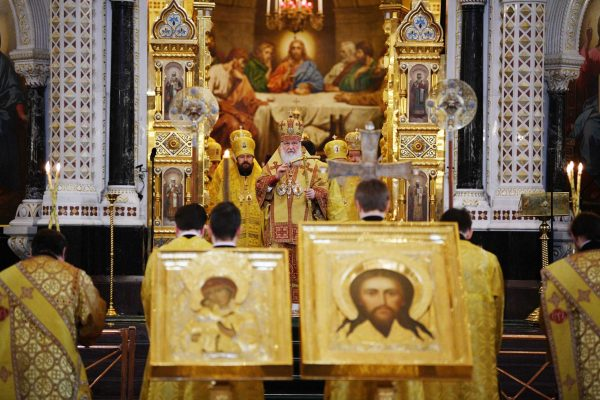 His Holiness, Patriarch Kirill, Celebrated Divine Liturgy on the First Sunday of Lent