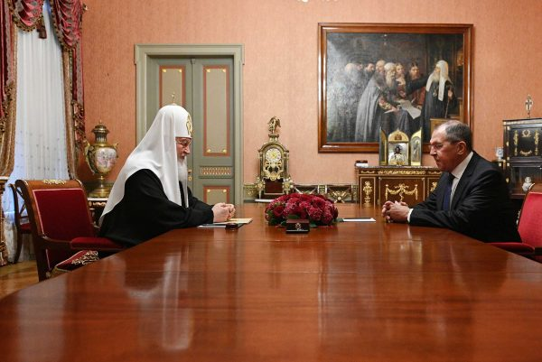 Patriarch Kirill meets with Russian Foreign Minister Sergey Lavrov