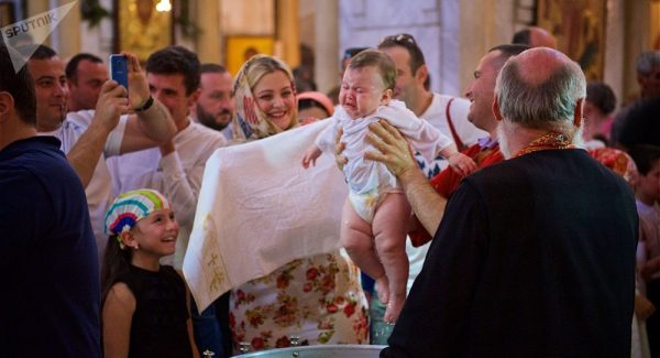 Another 777 Infants Baptized by Patriarch Ilia of Georgia