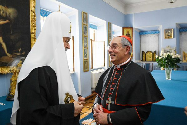 His Holiness Patriarch Kirill Meets with a Group of Pilgrims from the Roman Catholic Church