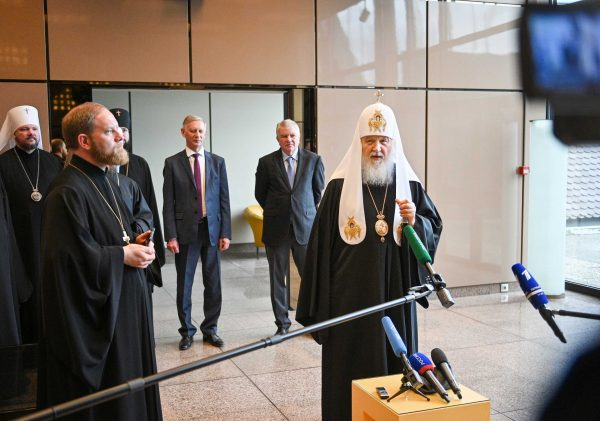 In Conclusion of His Visit to Strasbourg Patriarch Kirill Answers Questions from Journalists