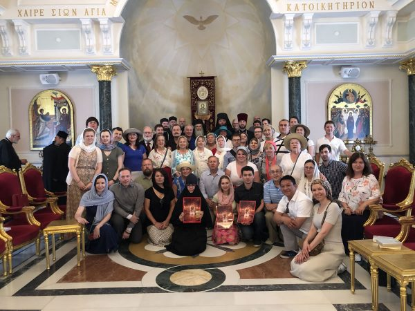Pilgrims of the Russian Church Abroad Received by His Beatitude Patriarch Theophilos III of Jerusalem