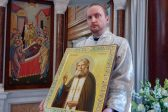 Icon of Venerable Serafim of Sarov Gifted to the Dormition Cathedral in London
