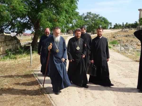 Metropolitan Hilarion of Volokolamsk Begins Pilgrimage to Greece