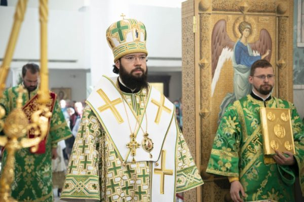 Patriarchal Exarch of Western Europe Presides over Celebration at the Trinity Cathedral in Paris on Pentecost