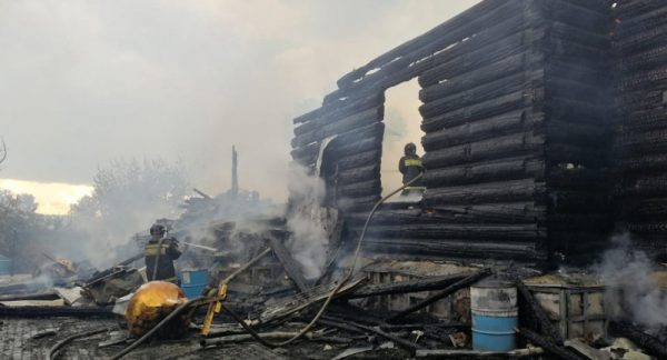 Church of the 19th Century Nearly Burned Down in a Fire in Kurgan Monastery