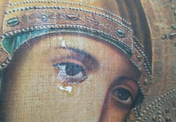 Copy of Wonderworking Icon Streams Myrrh in Ukrainian Lviv Diocese