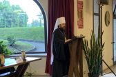 Metropolitan Hilarion Reads a Paper at a Conference in the Bose Monastery, Italy