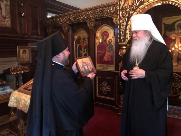 Acting Administrator of the Patriarchate Parishes in America Meets with Metropolitan Tikhon