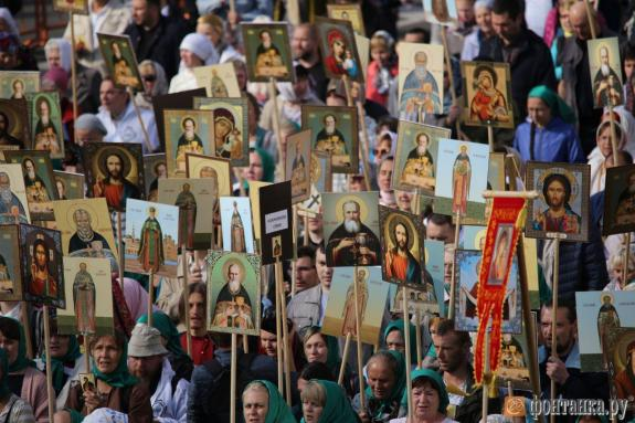 Over 100 Thousand People Walk In Cross Procession In Memory Of St Alexander Nevsky