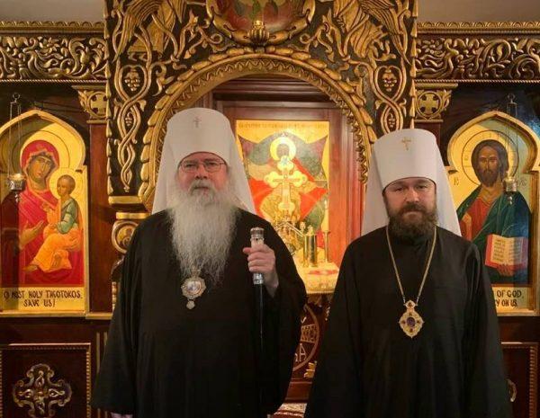 Metropolitan Tikhon hosts Metropolitan Hilarion of Volokolamsk at OCA Chancery