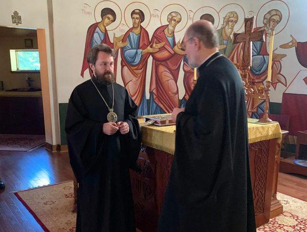 Metropolitan Hilarion visits St. Vladimir's Seminary in New York