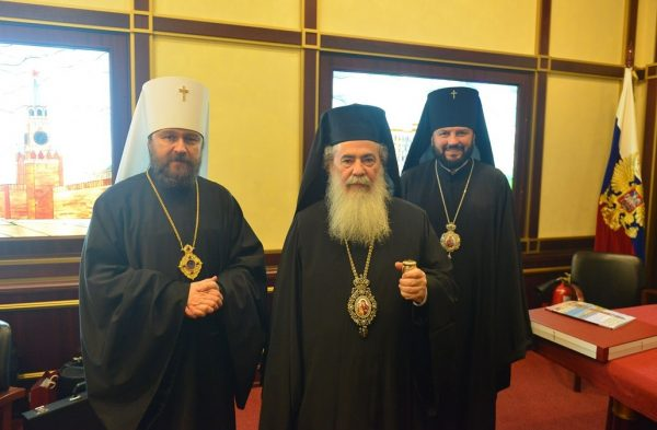 Patriarch Theophilos III of Jerusalem Completes His Visit to the Russian Church