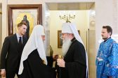 Patriarch Kirill Meets with His Beatitude Metropolitan Tikhon