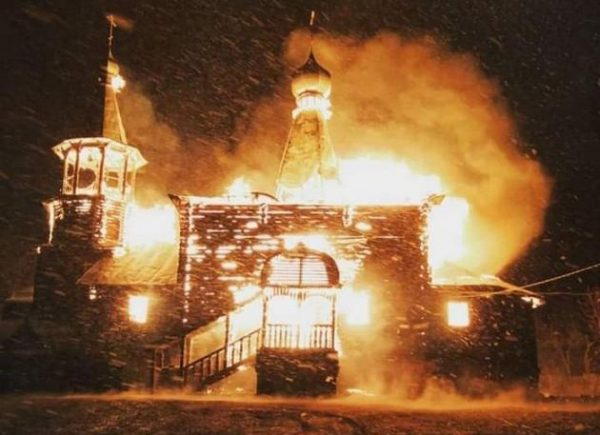 Unique Church Burned Down Near Optina Hermitage