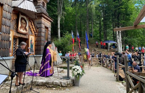Archbishop Tikhon of Podolsk Takes Part in Memorial for Russian War Prisoners in Slovenia