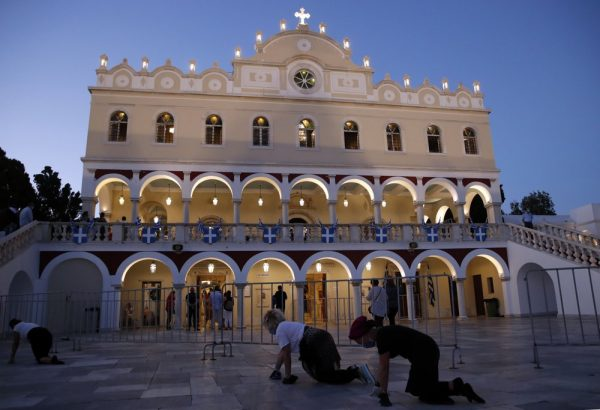 Fewer People but Deep Faith on Greece's Assumption Holiday