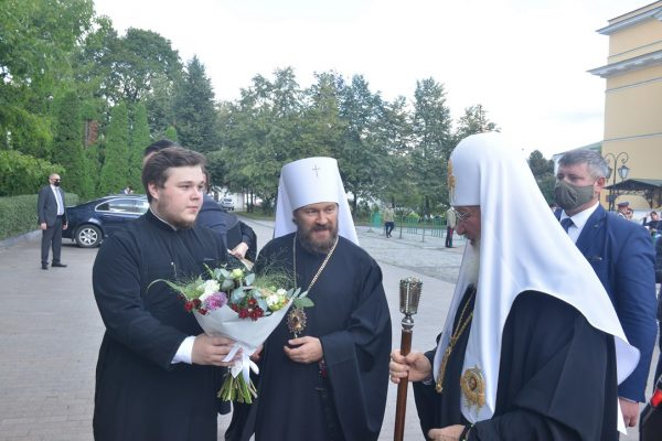Patriarch Kirill Visits ROC Department for External Church Relations