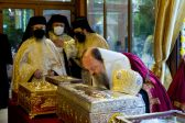 Relics of Bucharest's Patron Saint Placed for Veneration Outside Patriarchal Cathedral