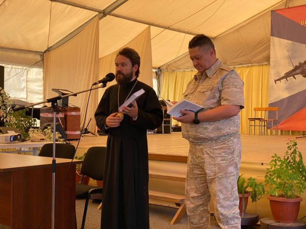 Metropolitan Hilarion of Volokolamsk Meets with Russian Military in Syria