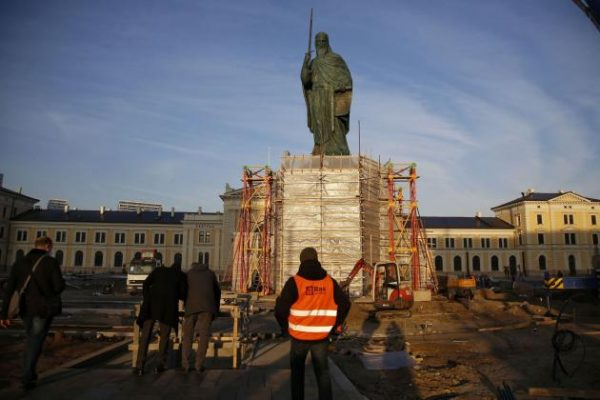 Monument to Saint Simeon the Myrrh-Gusher Installed in Belgrade