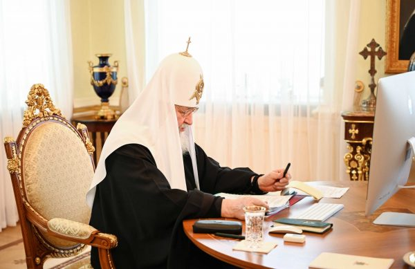 Patriarch Kirill Chairs a Meeting of the Supreme Church Council in a Remote Format